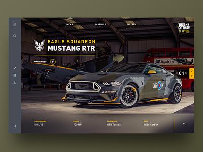 RTR Eagle Squadron website header concept webdesign ux ui