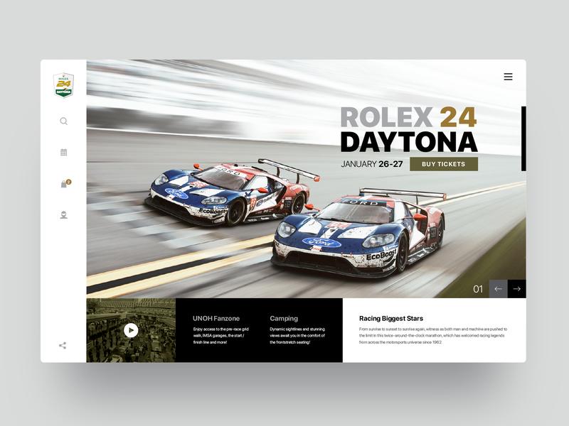 Rolex24 motorsports daytona rolex web website ux webdesign ui