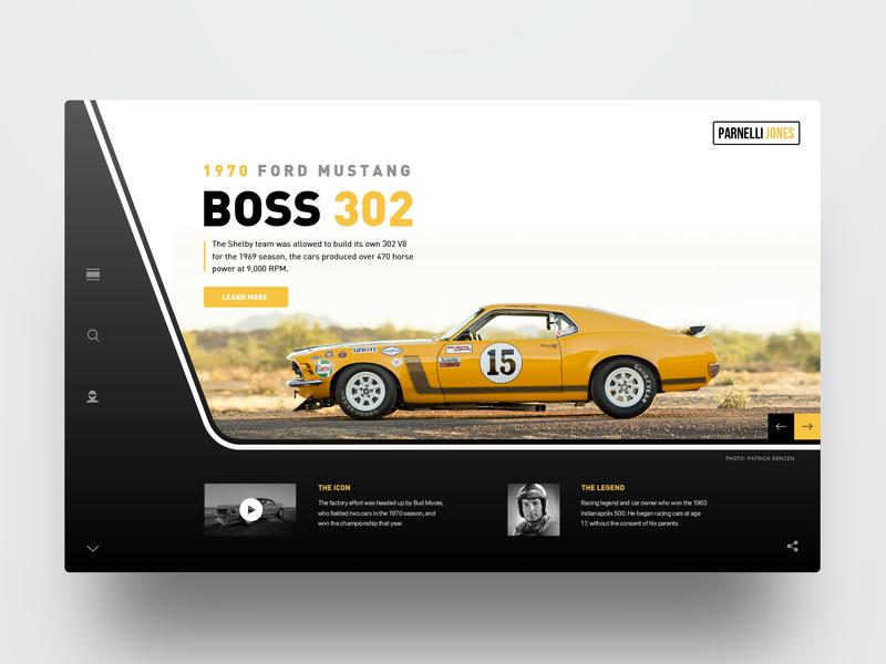 Boss 302 Trans-Am parnellijones boss302 boss ford ford mustang web website webdesign ux ui