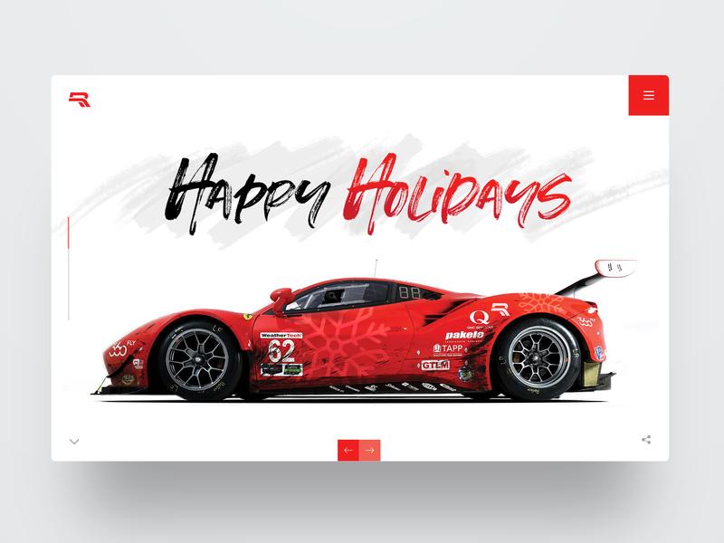 Holidays 2018 website design christmas hero ux webdesign ui