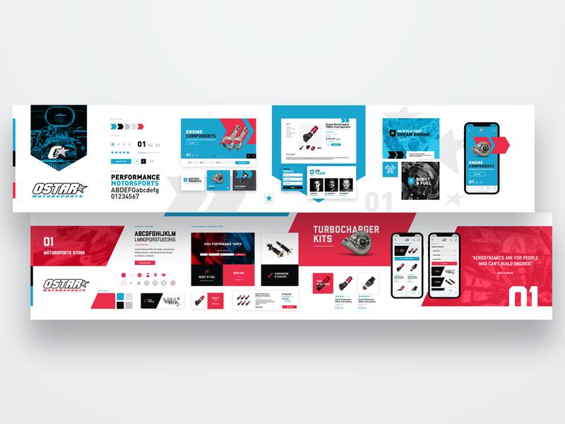 Ostar Motorsports stylescape webdesign ux ui