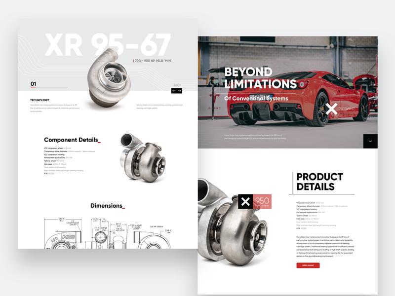 Turbocharger Brand Website Concepts turbo motorsports website concept webdesign ux ui