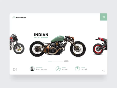Cafe Racer  Slide Set bmw ducati buell indian scrambler caferacer motorcycle motorsports adobexd autoanimate hero section webdesign ux ui