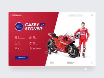 MotoGP Legends adobexd adobe valeyellow vr46 motogp honda yamaha ducati motorsports productdesign website ui webdesign ux