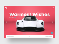 Holidays 2019 happy new year happy holidays valhalla aston martin supercar motorsports website webdesign ux ui