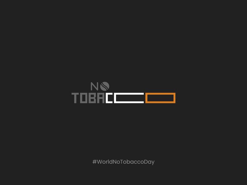 Say No To Tobacco prohibit ban icon no cigarettes tobacco world no tabacco day worldnotobaccoday cigarettes no cigarette logotype calligraphy typography logo illustration design