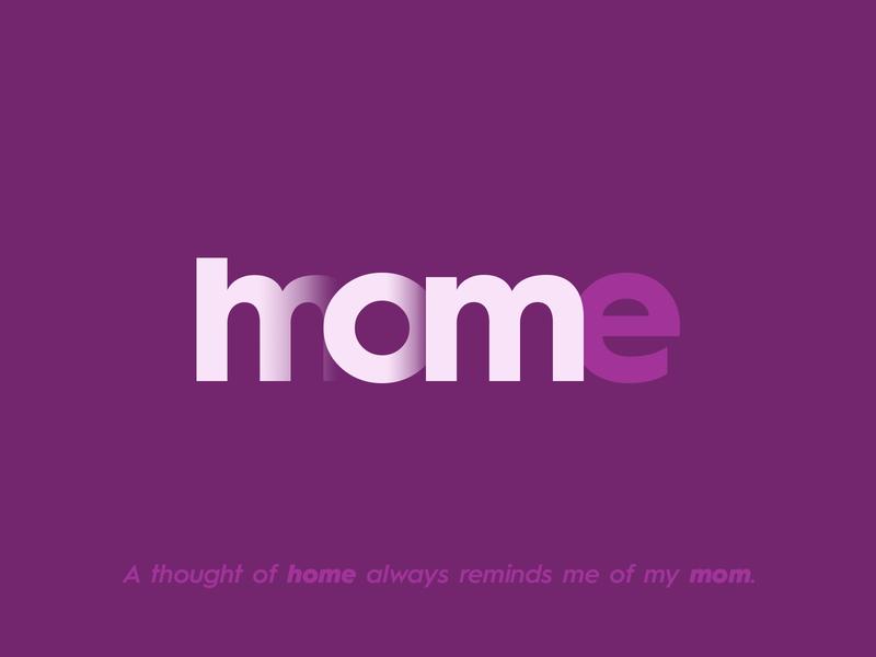 Home = Mom branding logo illustration art calligraphy mother typography typography design mom home mother mothers day happymothersday mothersday