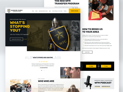 WFC Homepage uidesign ui website design webdesign website charity religion