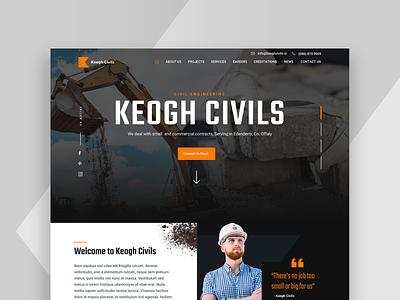 Keoghs Civils website design web design website ui design uidesign ui construction company construction engineering