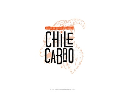Chile Cabro Logo chile habanero hot sauce design label logo chile