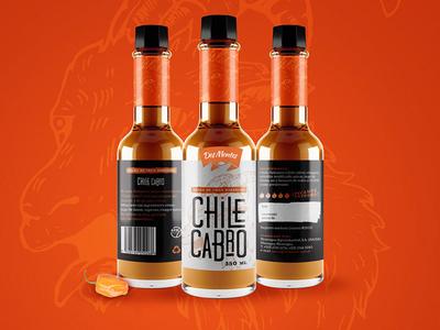 Chile Cabro Label label design hot sauce label chile