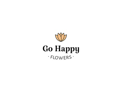 Go Happy Flowers Logo flower logo florist logo logo design branding logo