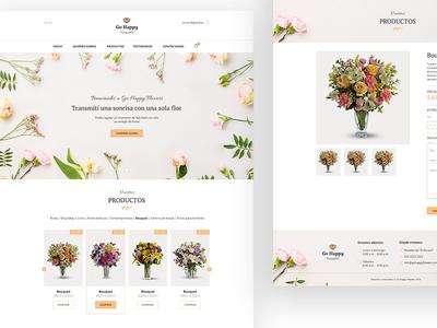 Go Happy Flowers eCommerce florist e-commerce flowers website website florist natural organic ecommerce