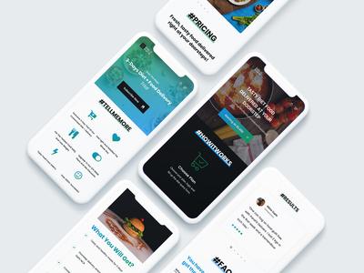 Meal Subscription Ecommerce - Web Design