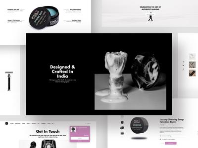 Shaving Brand - Web Design