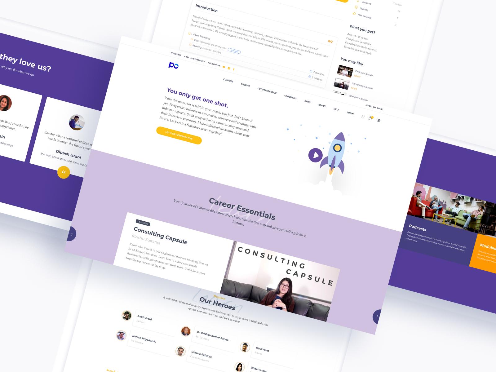 Online Learning Platform Web Design By Prateek Katyal On Dribbble