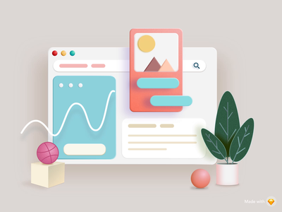3D Dashboard Animation webdesign minimal graph aftereffets illustrator animation ae sketch dashboard application abstract 3d art 3d