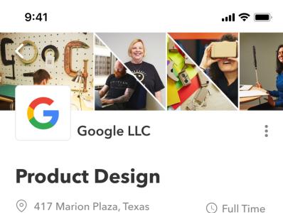 Indeed Redesign ui ux clean online typography figma sketch statistics google job listing app mobile jobs job