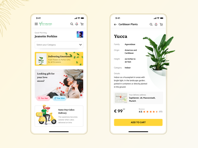 Ferns n Petals Redesign🌿 flowers ux mobile ui tech banner plants free growing grow analytics mobile illustraion plant