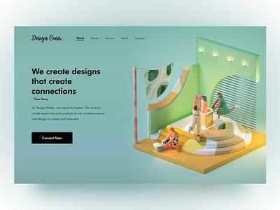 Design Connection web sketch figma design website uiux ui agency create connection 3d art 3d
