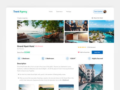 Travel Agency ⛱️ figma clean landing page planner trip planner website web trip tourism images hotel colorful booking traveling travel