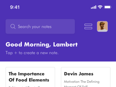 Sticky Notes 📝 product notes widget mobile ios typography texture sticky notes