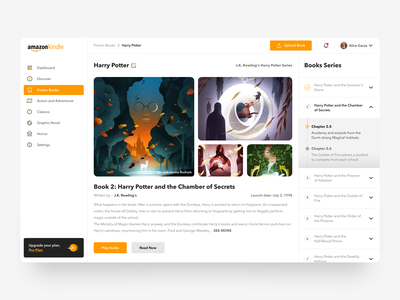 Amazon Kindle Design 📚 yellow magic illustration upgrade study portal dashboard kindle amazon shelf book progress bar clean