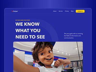 Setget Website logo typography clean illustration image graphic design figma web 3d online website webs