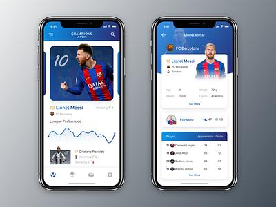 Football App explore interaction dark app landing page flat web responsive graphic design app online typography graph vector logo ux branding design clean soccer football