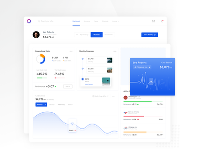 Wallet Dashboard web clean logo online pay responsive card payment gradiant stats graph branding typography currency exchange currency money app wallet app wallet portal dashboad