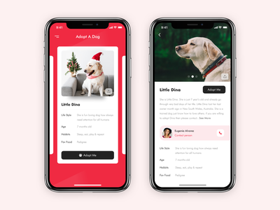 Adopt a pet clean online logo dog art responsive web design love animal dog app charity humanity ux  ui adopt branding typography pink golden retriever app dog