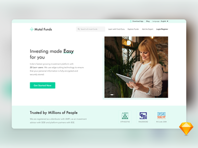 Mutal Funds currency web payment banking management budget finance illustration guru safety clean language website freebies sketch security money investment fund mutal