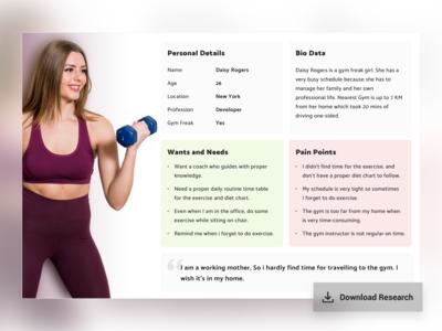 User Persona Fitness