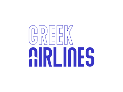 Greek Airlines airline dribbble invitation dribbble invite brand design branding logo design logodesign logotype logos logo icon flat illustrator art illustrator cc illustrator adobe illustrator design amateur vector illustration