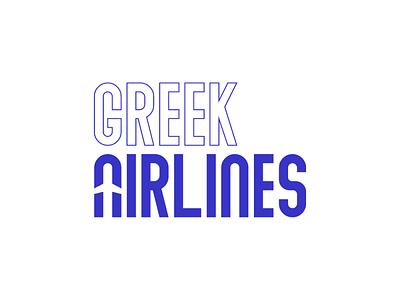 Greek Airlines airline dribbble invitation dribbble invite brand design branding logo design logodesign logotype logos logo icon flat illustrator art illustrator cc illustrator adobe illustrator design amateur vector illustration
