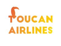 Toucan Airlines airline dribbble invitation dribbleinvite branding design branding logo design logos logodesign logotype logo icon flat illustrator art illustrator cc illustrator adobe illustrator design amateur vector illustration