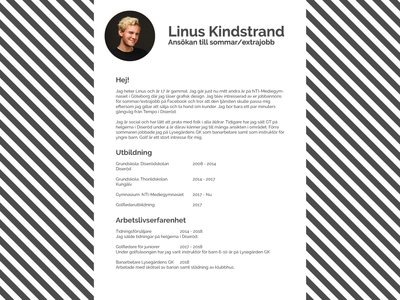 Simple resumé design