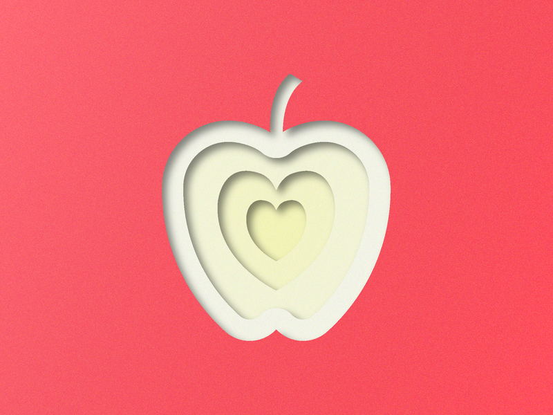 Red apple layer style dribbble invite dribbble invitation dribbble invite giveaway layered red vegetable fruit apple icon layer 3d illustrator art illustrator adobe illustrator design amateur vector illustrator cc illustration