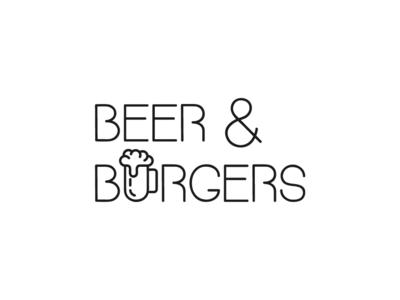 Beer And Burgers beer logos food burger logo design logodesign logotype dribbble invitation illustrator branding logo icon dribbble invite dribbble invite giveaway adobe illustrator design amateur vector illustrator cc illustration