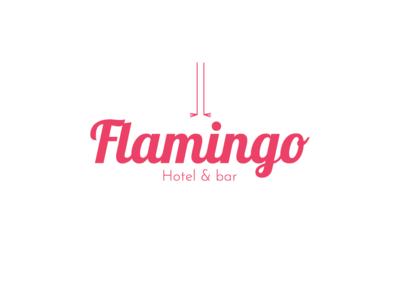 Flamingo Hotel & bar dribbble logodesign logo design logotype flamingo pink animal branding dribbble invitation icon logo dribbble invite dribbble invite giveaway illustrator adobe illustrator design amateur vector illustrator cc illustration