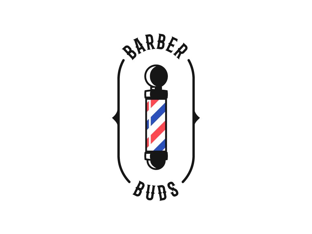 Barber Buds logos barber shop barber barbershop logodesigns logo design logotype branding dribbble invitation logo dribbble invite icon dribbble invite giveaway illustrator adobe illustrator design amateur vector illustrator cc illustration