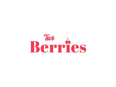 Two Berries minimalism graphics graphicdesign graphic graphic design logo design logotype logodesign logos logo icon flat illustrator art illustrator cc illustrator adobe illustrator design amateur vector illustration