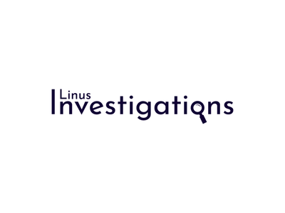 Linus Investigations minimalistic investigation graphic design graphicdesign graphic logodesign logo design logotype logos logo icon flat illustrator art illustrator cc illustrator adobe illustrator design amateur vector illustration
