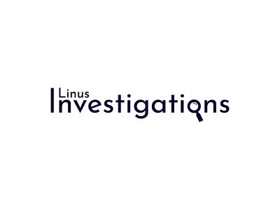 Linus Investigations minimalistic investigation graphic design graphicdesign graphic logodesign logo design logotype logos logo icon flat illustrator art illustrator cc illustrator adobe illustrator design amateur vector illustration