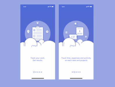 Onboarding screens for Task App