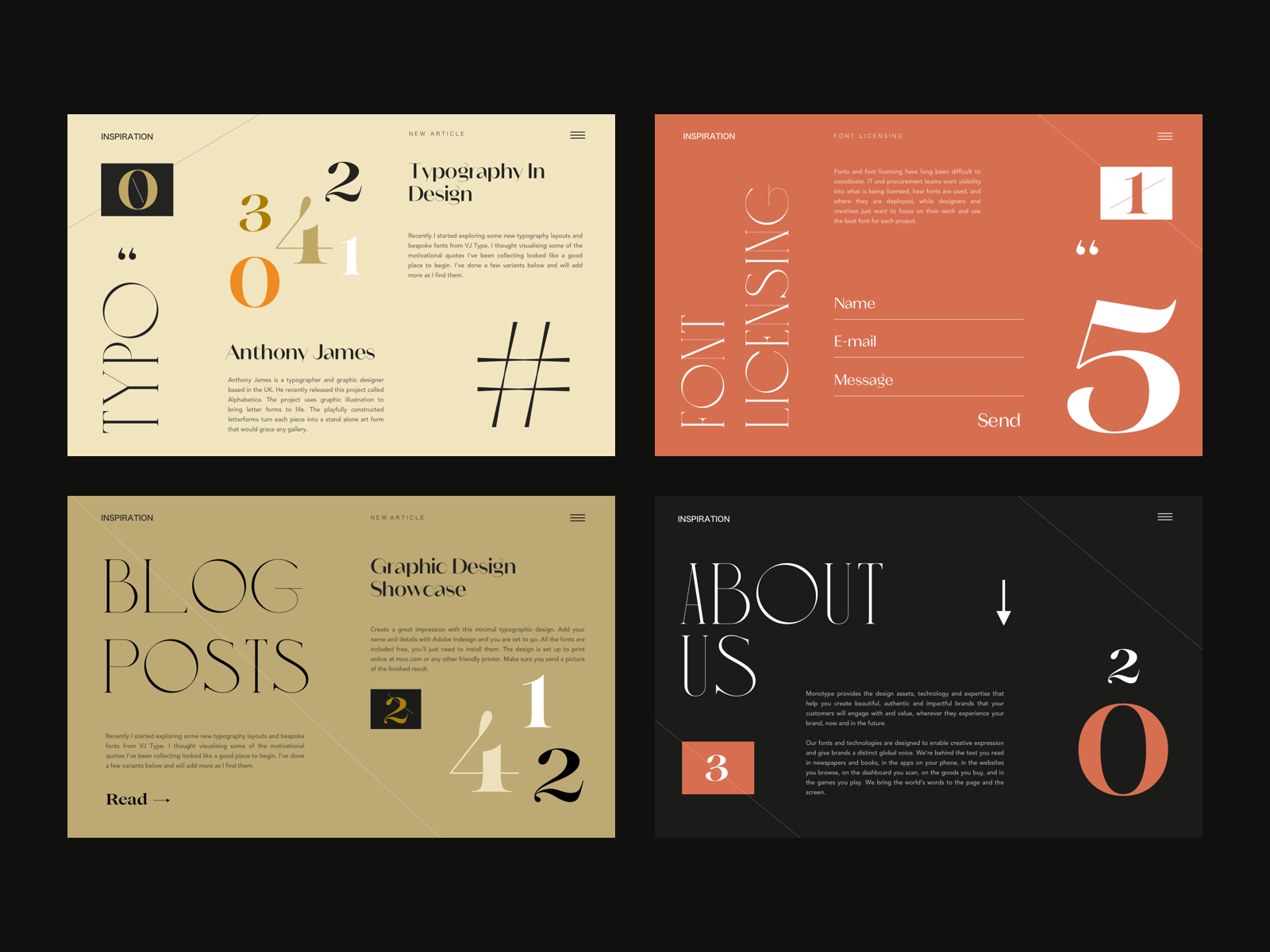 Choosing typography for web design: 5 things you need to consider |  Dribbble Design Blog