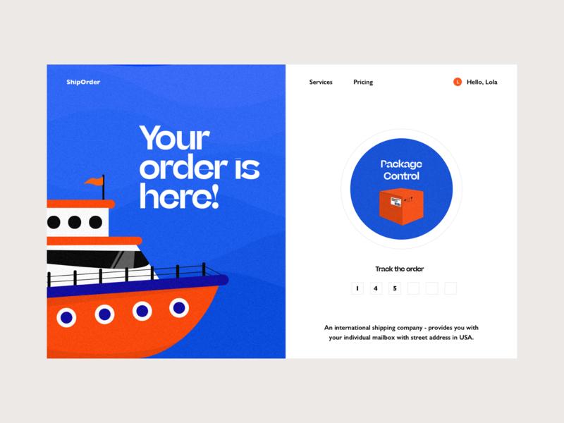 Shipping shipping ship colors illustration web interface design ui