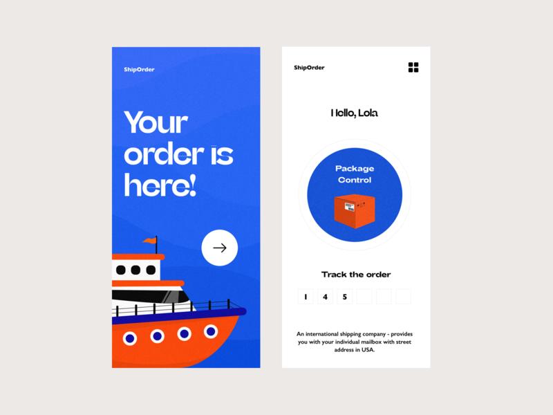 shipping vector app illustration ui app design colors responsive interface design