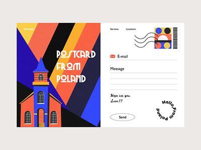 Envelope photography colors illustration ui interface design