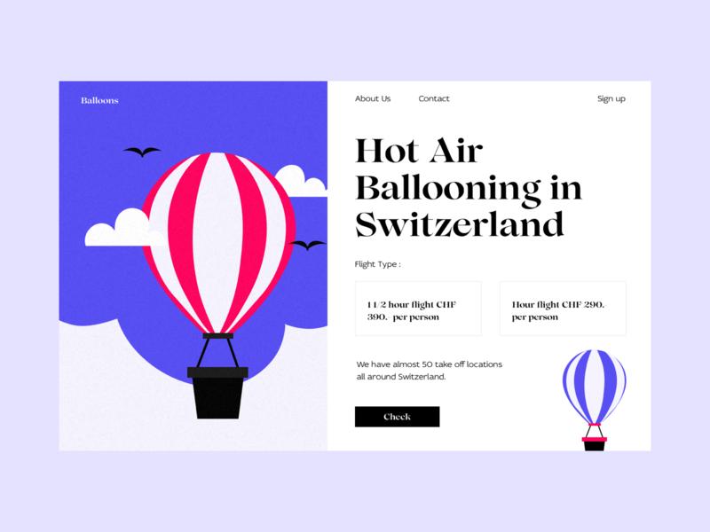 balloons art blog typography web branding design colors illustration ui interface